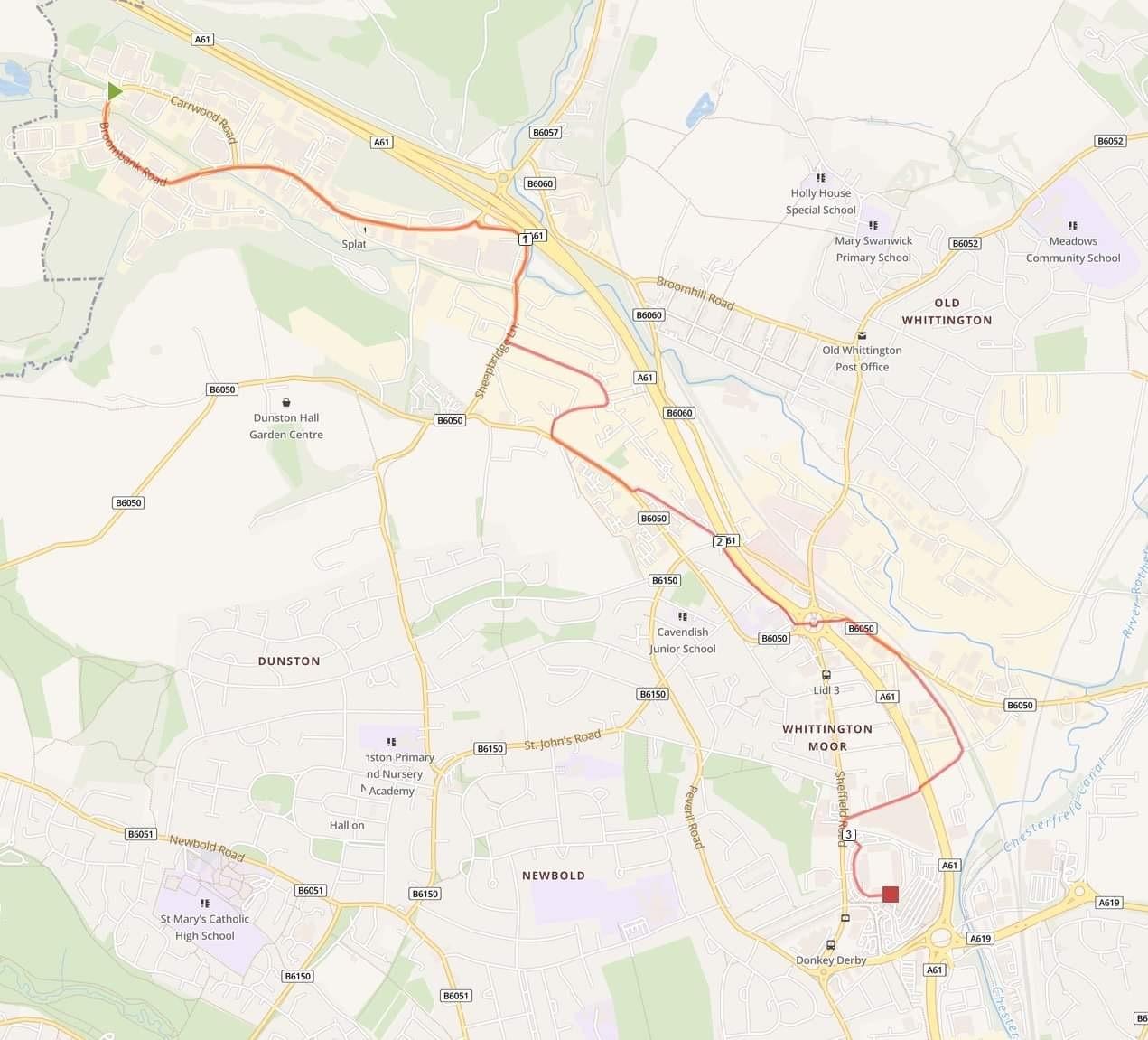 Community 5k route